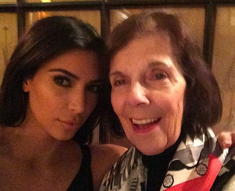 Kim Kardashian with her nan