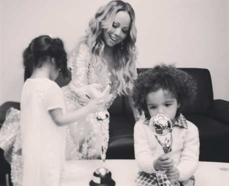 Mariah Carey with kids Roc & Roe
