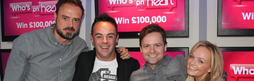 Ant & Dec with Jamie & Emma