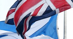 The Saltire and Union Flag