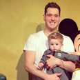Michael Buble with son Noah and  Luisana Lopilato
