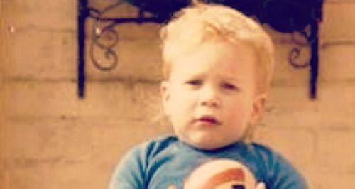 Olly Murs as a small boy