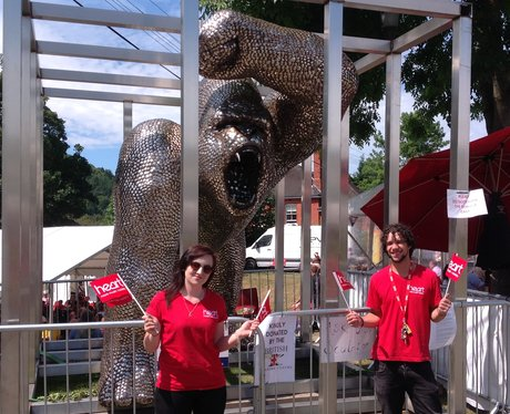 Heart Angel Alex and Nia with Gorilla made from 40,000 spoons!