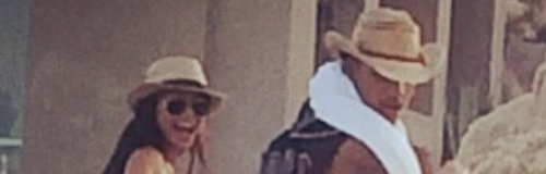 Naya Rivera and Ryan Dorsey horse riding