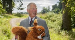 Prince Charles with a gift