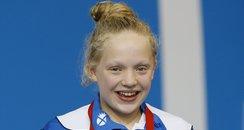 Erraid Davies winning bronze medal at Glasgow 2014