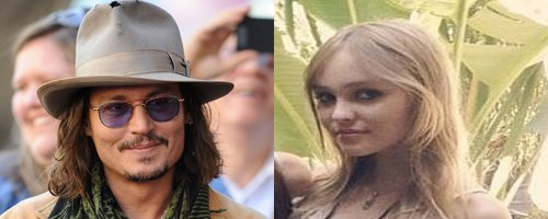 Johnny Depp and Lily Rose Depp