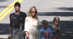 Chris Martin and Gwyneth Paltrow with children
