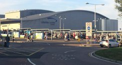 Security evacuation at Luton Airport