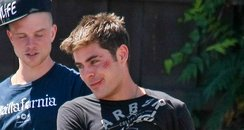 Zac Efron on set 'We Are Your Friends'