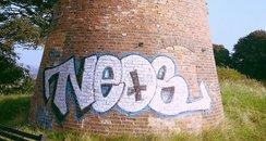 Graffiti on Newnham Windmill