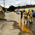 Flood after burst water main in Kingswood