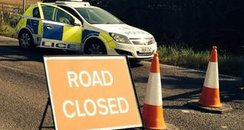 Light Aircraft Crash - Road Closed, Barford