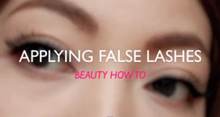 Apply False Lashes
