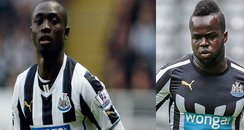 Chiek Tiote and Papiss Cisse from Newcastle United