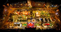 Albert Square Manchester during Christmas Markets