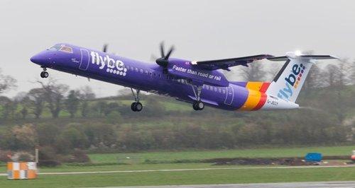 Flybe purple plane