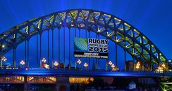 RWC 2015 Newcastle tyne bridge