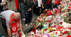 floral tributes to 96 Liverpol fans who died