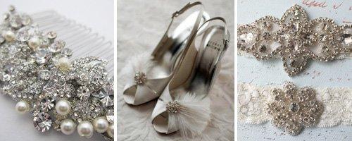 Vintage wedding accessories canvas
