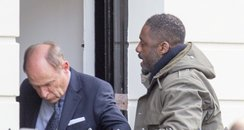 Idris Elba on set