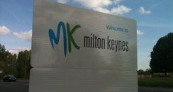 Welcome To Milton Keynes sign