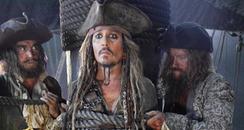 Johnny Depp in pirate costume