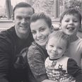 Wayne Rooney and Coleen Rooney and children