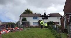 Scene Of Cwmbran Fatal Fire