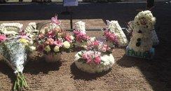 Fallan Kurek flower tributes