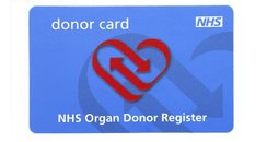 NHS Organ donor card