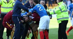 Rangers Motherwell brawl