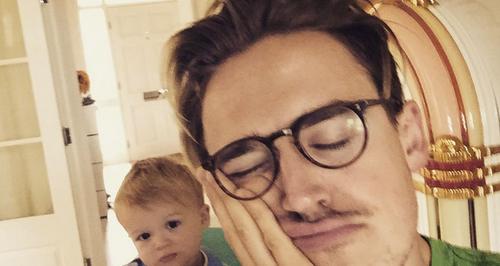 Tom Fletcher and son Buzz