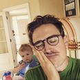Tom Fletcher and son Buzz