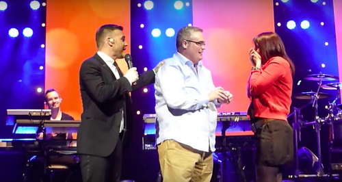 Gary Barlow helps fan propose (2012) YouTube