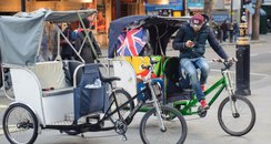 London rickshaw driver