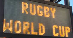 Rugby World Cup Road Closure sign