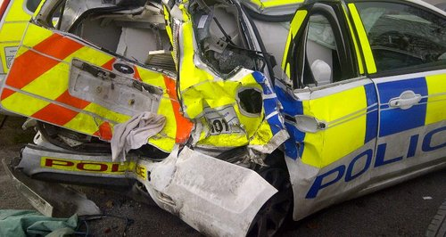 A338 police car crash