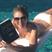 Image 7: liz hurley reading in pool instagram