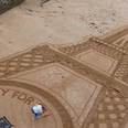 Special tribute drawn in the Torbay sand