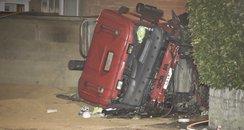 Van hit by tipper truck in Bath
