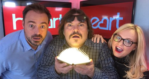 Jack Black with Jamie and Emma