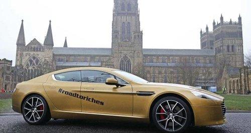 Gold Aston martin