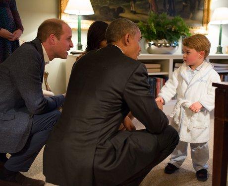 President Barack Obama and Prince William with Pri