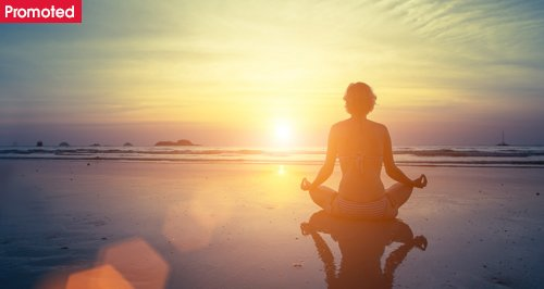 Sunset meditation with promoted tab