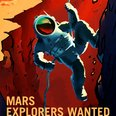 Mars Explorers Wanted Posters