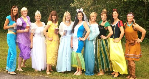 Disney Princess DisneyLand Paris Hen do Bride Brid