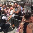 Police officer proposal Pride Canvas