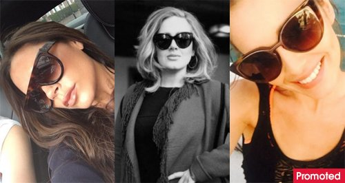 Celebrities in sunglasses Cheryl Adele Victoria