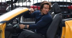 Mark Wahlberg shoots stunts on the set of Transfor